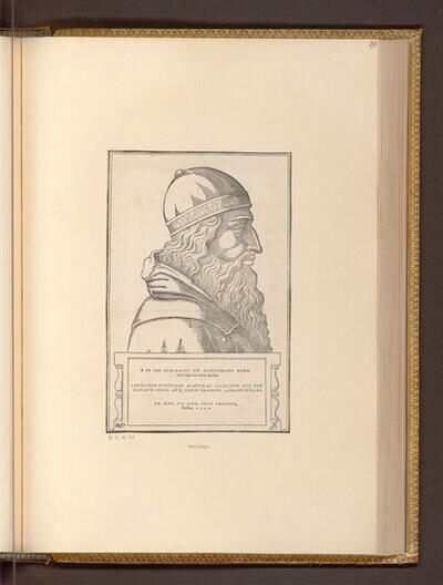 Büste des Aristoteles von Hans Rudolf Manuel Deutsch