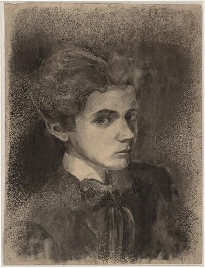Selbstbildnis von Egon Schiele