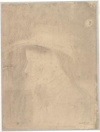Dame im Profil mit Hut von Egon Schiele