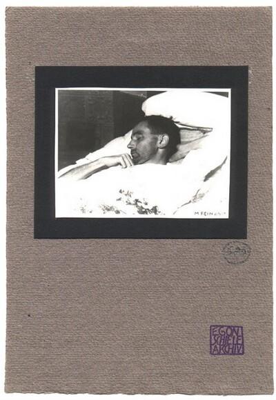 Egon Schiele auf dem Totenbett von Martha Fein