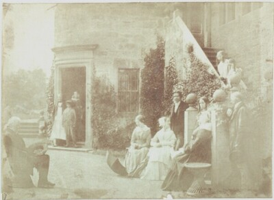 Lord Cockburn and His Family at Bonaly Castle von David Octavius Hill