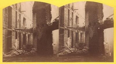 Das Ringtheater in Wien. Innere Ansicht nach dem Brand vom 8. Dezember 1881 von Mathias Weingartshofer