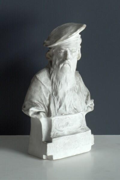 Büste Johann Gutenbergs von Theodor Khuen (Photoskulptur) von Josef Anger