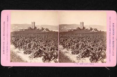 Die 1875-1879 ausgebaute Burg Klopp bei Bingen am Rhein von Johann Friedrich Stiehm