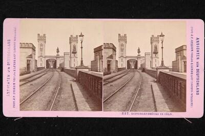 Hohenzollernbrücke in Köln von Johann Friedrich Stiehm
