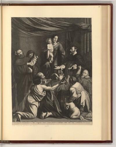 Rosenkranzmadonna von Michelangelo Merisi gen. Caravaggio