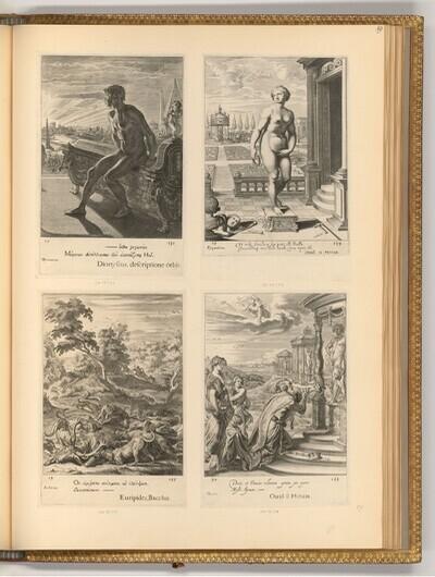 Epen der Antike und Szenen der Mythologie (Buchillustration) von Cornelis Bloemaert