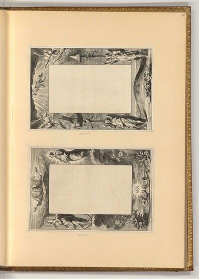 Rahmen mit biblischen Szenen (Buchillustration) von Cornelis Galle der Ältere
