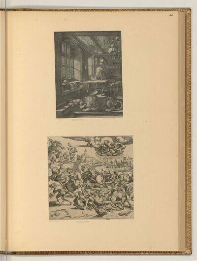 Heiliger Hieronymus im Gehäuse; Bekehrung des Apostels Paulus von Mario Cartaro