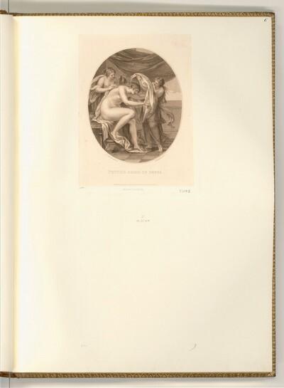 Nymphen helfen Psyche bei der Toilette von Francesco Bartolozzi