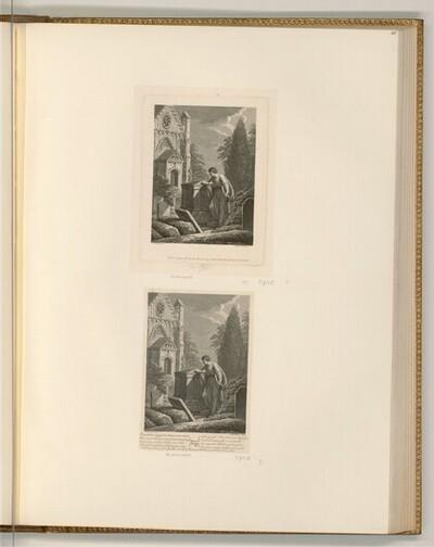 Gray, Thomas: Elegy Written in a Country Churchyard (Buchillustration) von Francesco Bartolozzi