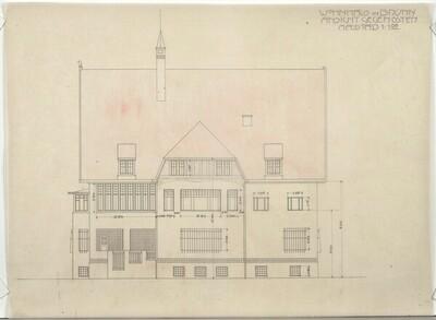 Wohnhaus in Brünn, Ansicht gegen Osten von Leopold Bauer