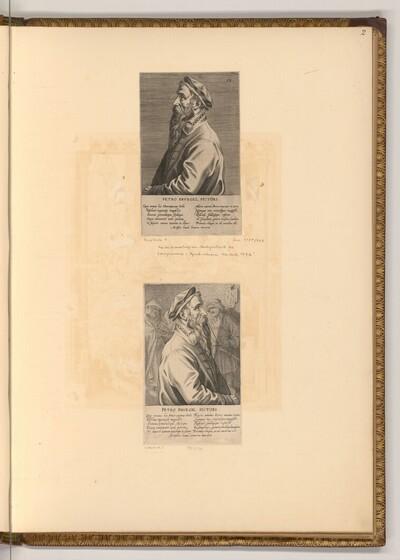 Porträt Pieter Bruegels d.Ä von Jan Wierix