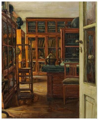 Landkartenzimmer der erzherzoglichen Kunstsammlung Albertina von Alois Hänisch